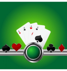 poker theme background vector image