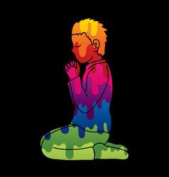 prayer christian praying vector image