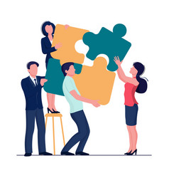 puzzle team concept business person teamwork for vector image