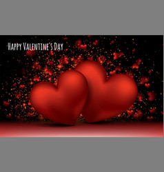 red love romantic hearts february 14 valentines vector image