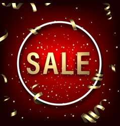 red round sale sign with serpentine vector image