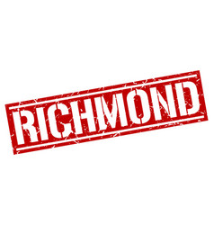 Richmond red square stamp vector