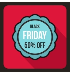 Sale sticker 50 percent off icon flat style vector