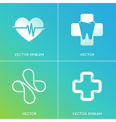 set of abstract logos and emblems - alternative vector image
