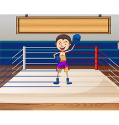 Single boxer in the ring vector