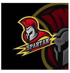 spartan warrior logo design warriors sport team vector image