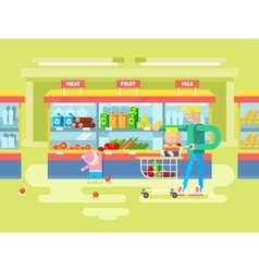 Supermarket design flat vector image