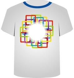 T Shirt Template- colorful blocks vector image