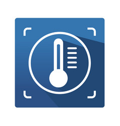 Thermography control icon vector