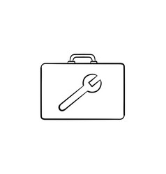 toolbox hand drawn sketch icon vector image