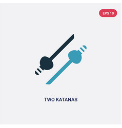Two color katanas icon from weapons concept vector
