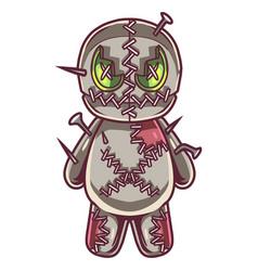Voodoo doll mascot logo design vector
