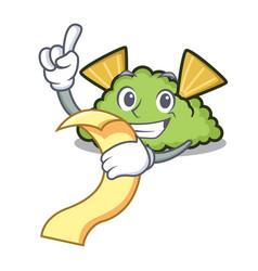 with menu guacamole mascot cartoon style vector image