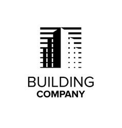 building company logo property symbol abstract vector image
