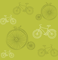 seamless background with retro bicycles - for desi vector image vector image