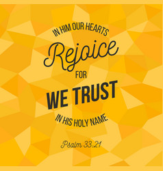 Bible verse for christian or catholic about trust vector