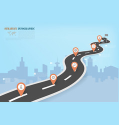 business infographics with road map pattern vector image