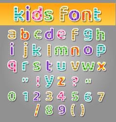 cute kids patchwork patterns alphabet vector image