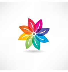 eco leaf abstraction icon vector image vector image