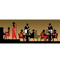 People in night club or restaurant vector image vector image