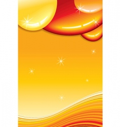 caramel card vector image vector image