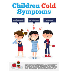children got cold poster vector image vector image