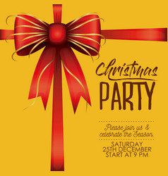 christmas party card with colorful decorative vector image vector image