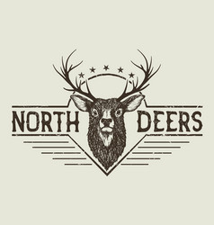 horned north deer vector image vector image