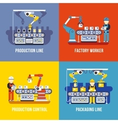 Manufacturing industry production line factory vector