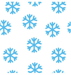 simple blue snowflake seamless pattern winter vector image vector image