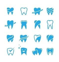 Teeth icon set isolated on white background vector image vector image