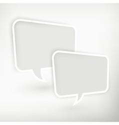 Two speech bubbles vector image vector image