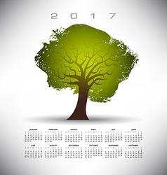 2017 Cal Rough Tex Tree vector image