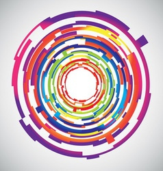 Abstract technology colourful circles background vector image vector image
