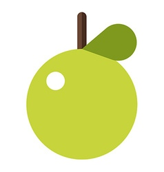 Green apple Flat style Apple icon Logo element vector image vector image
