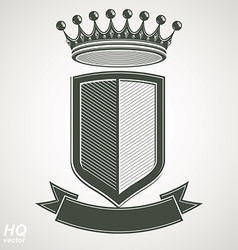 Heraldic royal blazon - imperial striped vector image