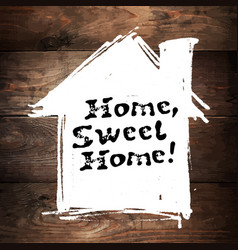 home sweet home lettering hand drawn greeting vector image vector image