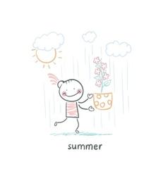 summer walk vector image