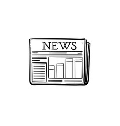 a newspaper hand drawn outline doodle icon vector image