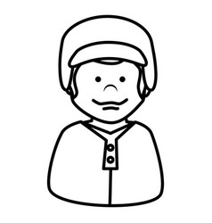 Baseball player avatar character vector