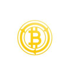 bitcoin exchange icon on white vector image
