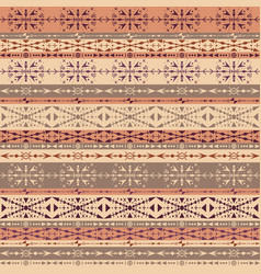 brown tribal seamless pattern with ethnic vector image