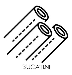 bucatini pasta icon outline style vector image