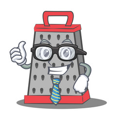 Businessman kitchen grater character cartoon vector