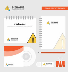 caution logo calendar template cd cover diary and vector image