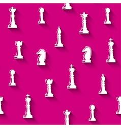 Chess seamless pattern vector