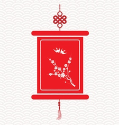 Chinese scroll with chinese calligraphy vector