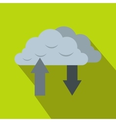 Clouds with arrows icon in flat style vector image