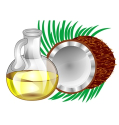 Coconut oil vector