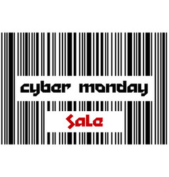 cyber monday sale sale poster with barcode vector image